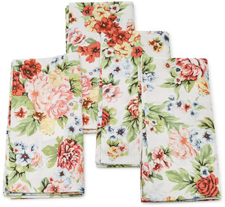 Emilia Wickstead Set-Of-Four Light Floral Linen Napkin Set