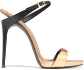 Giuseppe Zanotti Tania Cutout Metallic Leather Mules - Gold