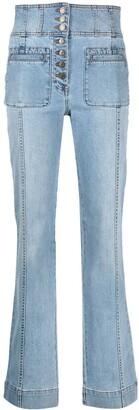 Ulla Johnson High-Rise Straight-Leg Jeans