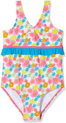 Playshoes Girl's Floral Sea with UV PRedection Swimsuit