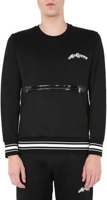 Alexander McQueen Zip Pocket Logo Sweatshirt