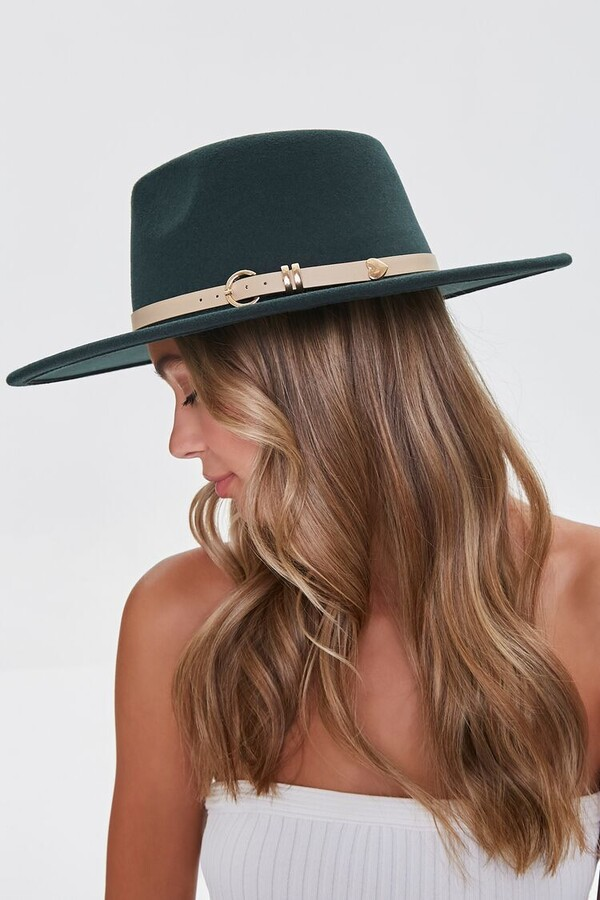 Thumbnail for your product : Forever 21 Faux Leather-Trim Fedora