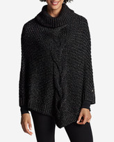 Eddie Bauer Women's Cable Poncho Sweater