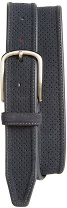 Johnston & Murphy Perforated Suede Belt