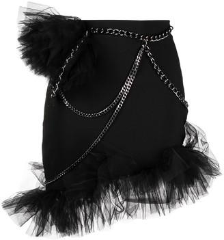 Loulou Mesh-Detail Mini Skirt