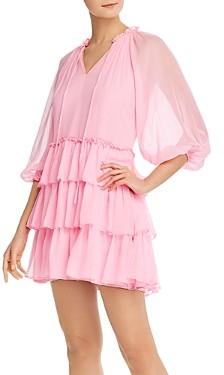 Alice + Olivia Layla Tiered Ruffle Mini Dress