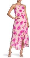 Lush Floral Sleeveless High/Low Dress