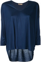 Cruciani three-quarters sleeve blouse - women - Viscose - 44