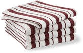 Williams-Sonoma Williams Sonoma Classic Striped Dishcloths, Burgundy