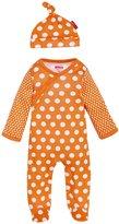 Skip Hop Pop Prints Footie & Hat Set (Baby) - Tangerine-6-9 Months