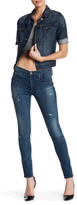 True Religion Halle Mid Rise Super Skinny Distressed Skinny Jean