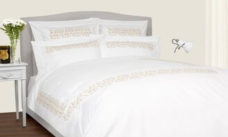 Frette Ornate Medallion Square Pillowcase (65Cm X 65Cm)