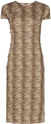 MARCIA TchikiBoum leopard print midi dress