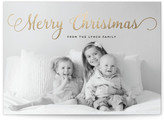 Minted Stylish and Merry Foil-Pressed Holiday Cards