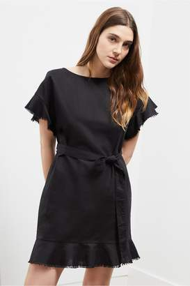 Great Plains Cotton Linen Frill Dress
