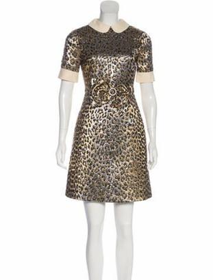 Gucci Metallic Mini Dress Gold
