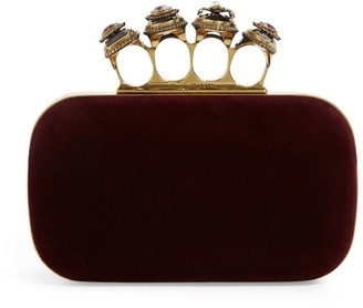 Alexander McQueen Spider Jewelled Four-Ring Clutch Bag