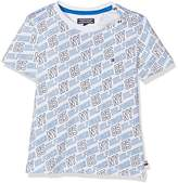 Tommy Hilfiger Boy's All-Over Print CN Tee S/S T-Shirt,(Manufacturer Size: 5)