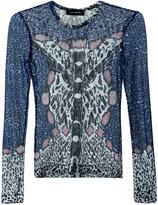 Yigal Azrouel leopard print mesh blouse