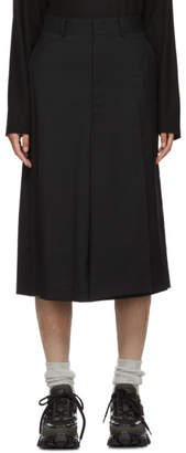 Junya Watanabe Black Cross Over Tropical Skirt