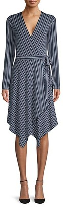 BCBGMAXAZRIA Striped Wrap Dress
