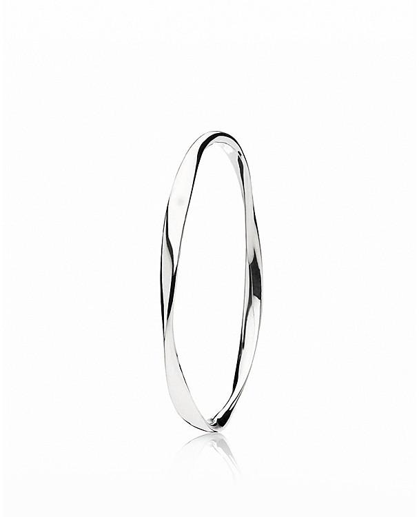 Pandora Design Bangle - Sterling Silver Small Liquid
