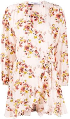 IRO Wrap-Style Floral Dress