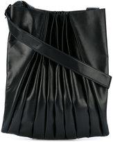 Yohji Yamamoto ruched shoulder bag - unisex - Leather - One Size