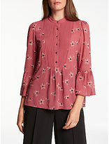 Somerset by Alice Temperley Daisy Embroidery Blouse, Rust