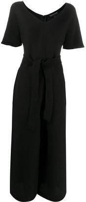 Emporio Armani tie-waist V-neck jumpsuit