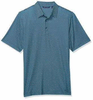 Cutter & Buck Men's Drytec UPF 50+ Lightweight Pike Herringbone Print Polo Shirt