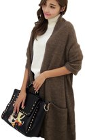 Hanerdun® Womens Thick Knit Wrap Soft Warm Shawl Winter Scarf With Pocket