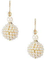 Anne Klein Faux-Pearl Drop Statement Earrings