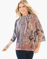 Chico's Paisely Relic Boxy Top