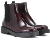 Prada Chelsea Leather Ankle Boots