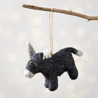 The White Company Ivy the Donkey with Sparkly Hat Christmas Decoration, Multi, One Size
