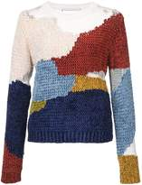 Rosetta Getty patch chenille pullover