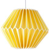 Pottery Barn Teen Geo Paper Lanterns, 14&quot, Yellow