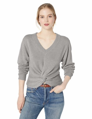 ASTR the Label Women's Twist Front Long Sleeve Solid Knit Sweater