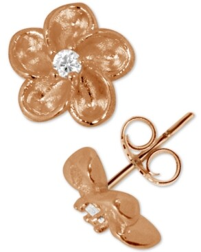 Kona Bay Flower Stud Earrings in Rose Gold-Plate