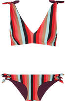 Rye - Yeee Reversible Striped Triangle Bikini - Red