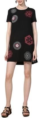 Desigual Graphic Print Mini Swing Dress