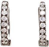 Rosa De La Cruz 18kt black gold and diamond hoop earrings