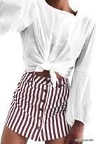 LOVE21 LOVE 21 Contemporary Striped Skirt