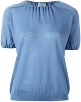 Prada short sleeve T-shirt with ruched neckline and sleeves
