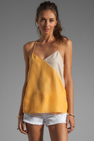 Tibi Colorblocked Silk Cami