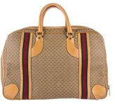 Gucci Leather-Trimmed GG Web Weekender