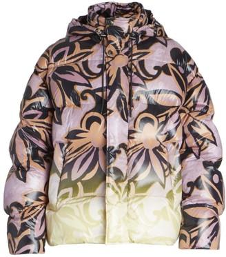Dries Van Noten Voley Graphic Print Puffer Jacket