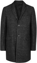 Folk Black Mélange Wool Blend Coat