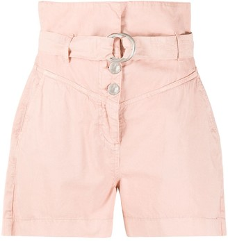 Pinko High-Waisted Belted Shorts